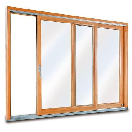 Porte-Fenêtre en Bois de Pin