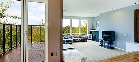 porte-fenêtre en pvc-alu résistible aux intempéries