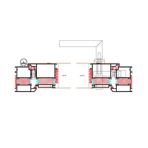 Moderne avec remplissage couvrant les bords sur les deux cotes