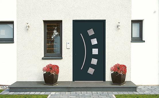 Modèle porte d'entrée vitrée originale