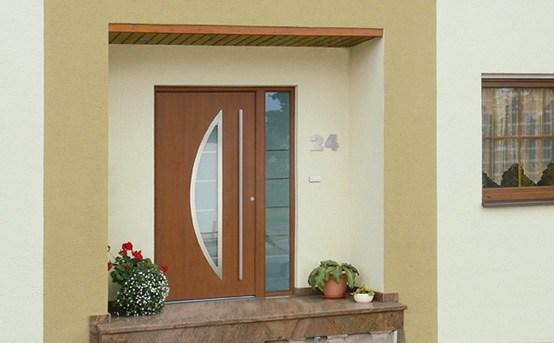 Modèle porte d'entrée vitrée