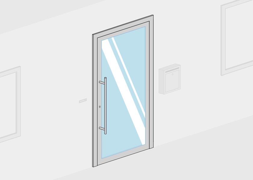 Porte entrée vitrée