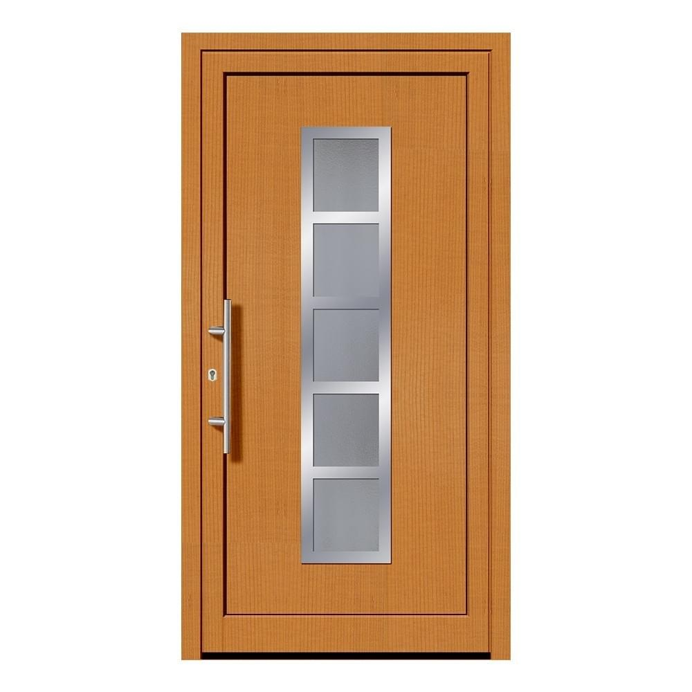 Portes d'entrée en bois mélèze