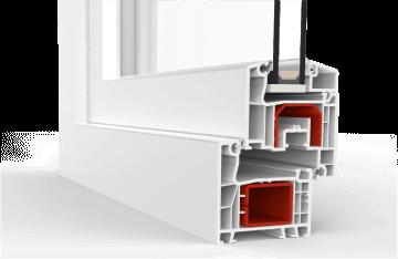 Baie oscillo-coulissante à Translation en PVC  - Ideal 4000