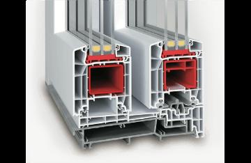 Baie soulevant-coulissante en PVC - Ideal Basic