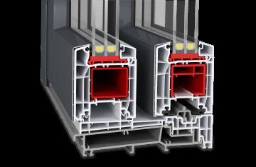 Baie soulevant-coulissante en PVC-Aluminium - Twinset Basic