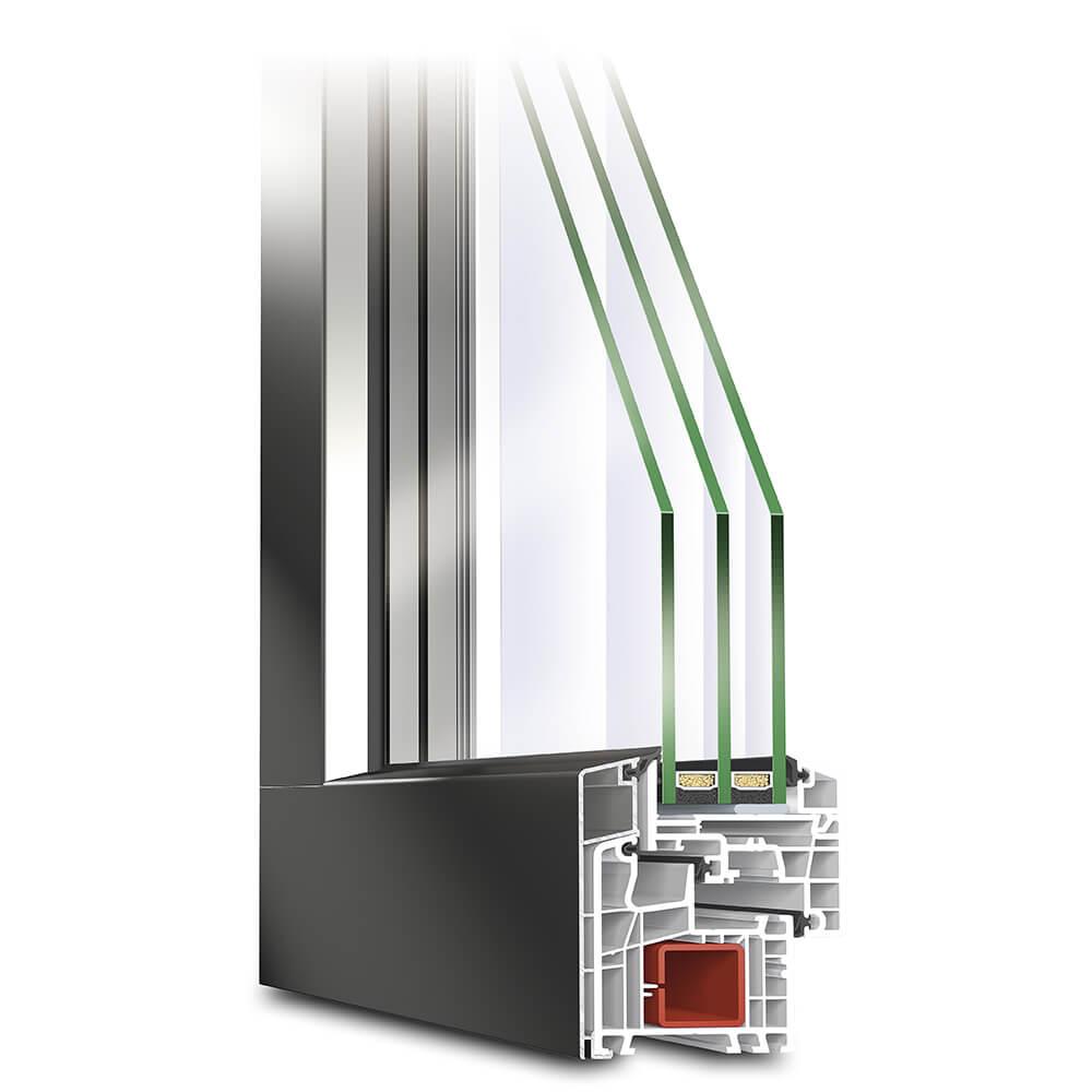 Profilé de Fenêtre PVC-Alu