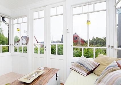 Baie vitrée veranda