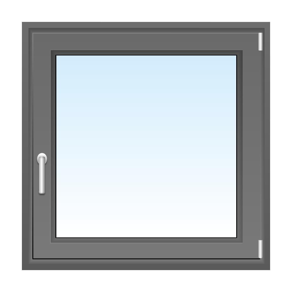 Fênetre PVC gris
