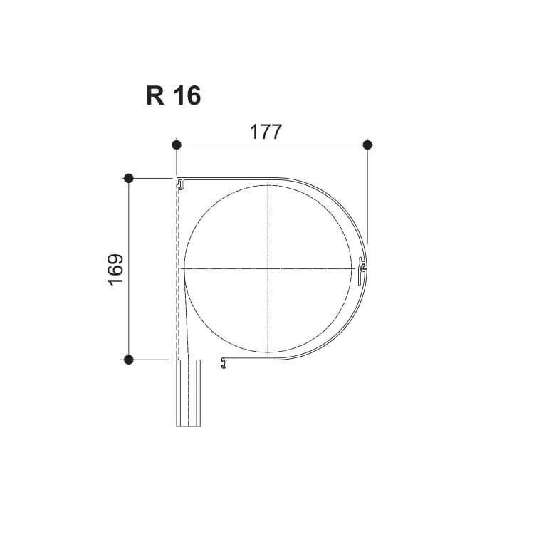 Nova Round - 169 (Hauteur maximale jusqu'à 2450 mm)