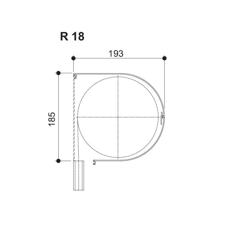 Nova Round - 185 (Hauteur maximale jusqu'à 4000 mm)