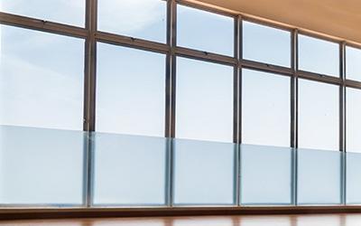 Baie vitrée atelier