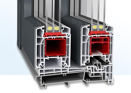 Baie coulissante PVC-Aluminium