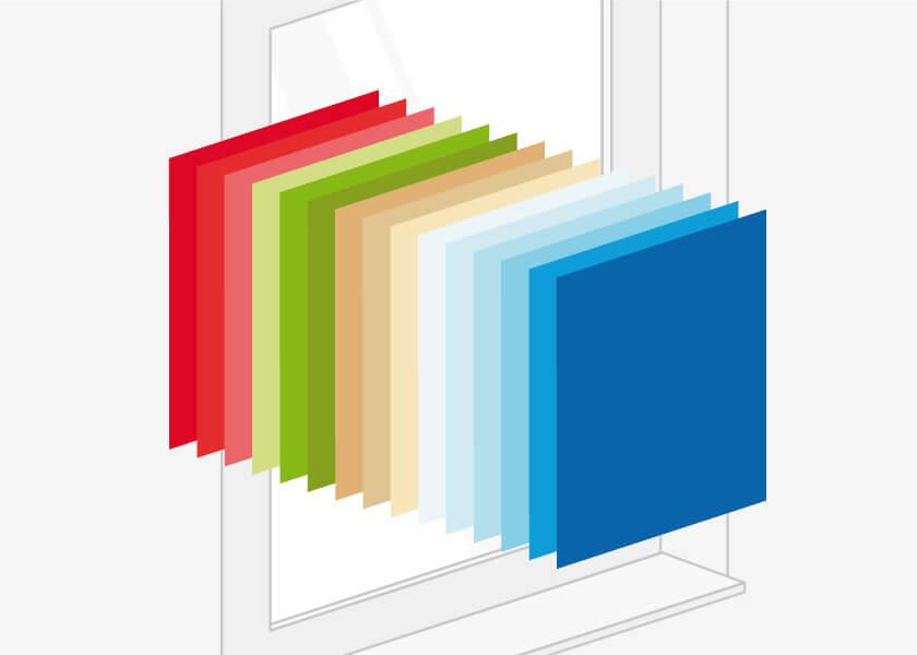 coloris diponibles pour baies soulevantes coulissantes en pvc