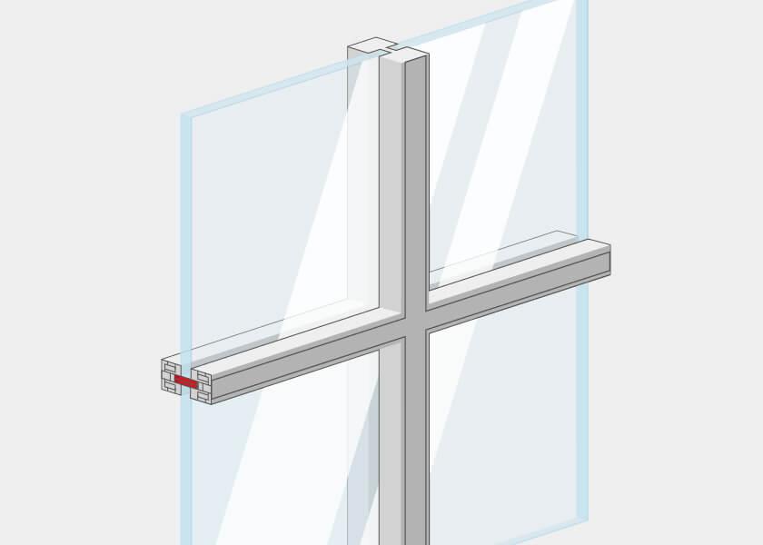 Croisillons pour fenêtre mixte en PVC-Alu