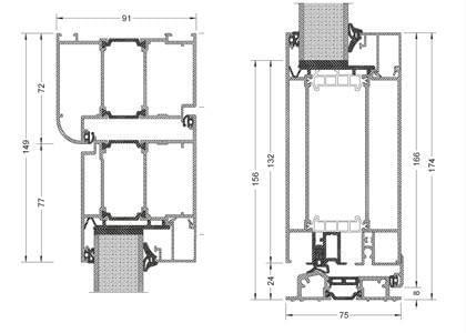 Composants de la porte d'entrée en aluminium