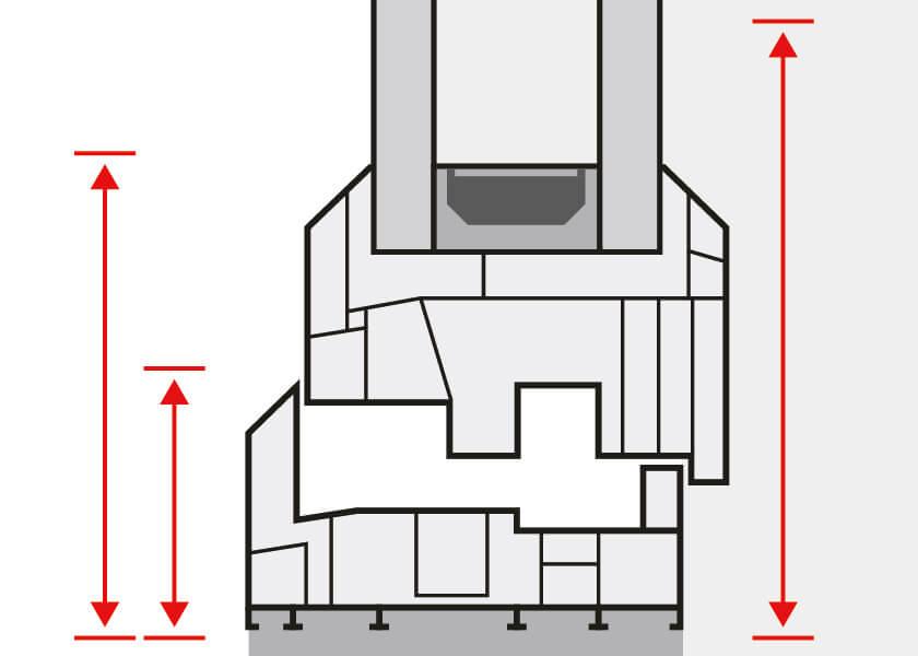 Coupes de croquis détaillés de fenêtres bois