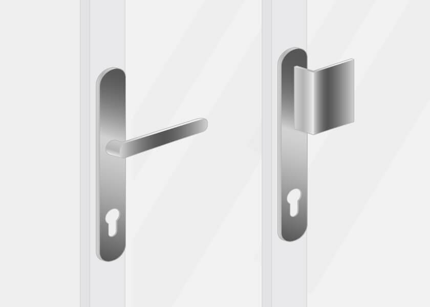 poignée extérieure pour une porte d'entrée en aluminium