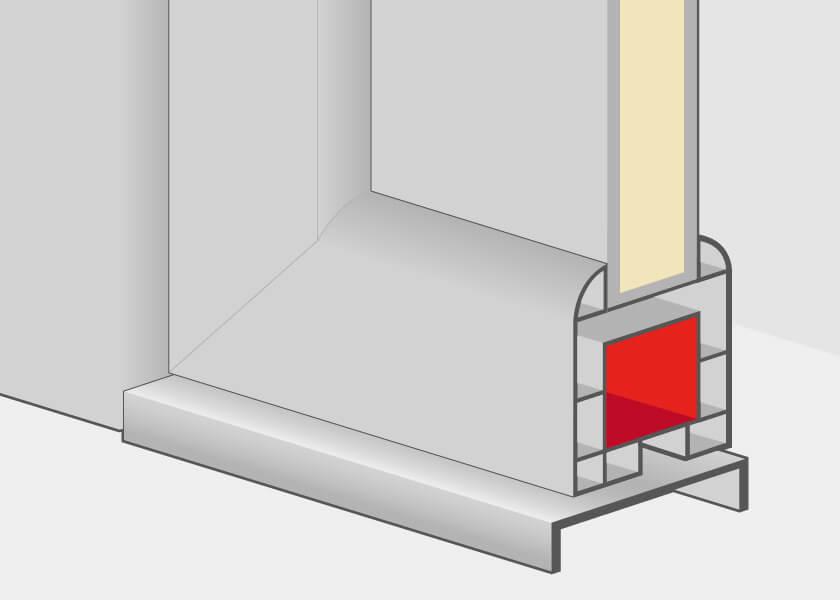 Profilés des portes d'entrée en aluminium