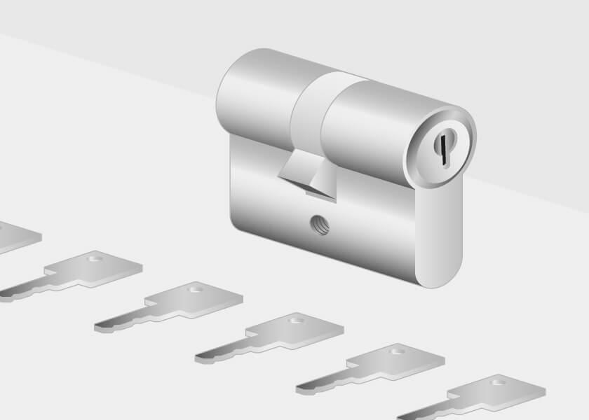 Serrue de la porte d'entrée en aluminium