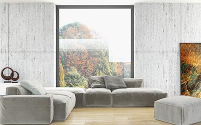 Fenêtre panoramique salon