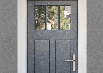Porte d'entrée vitrée pas chère