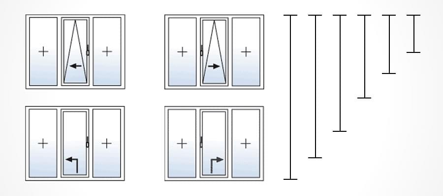 Baie coulissante sur mesure for Dimensions baies vitrees