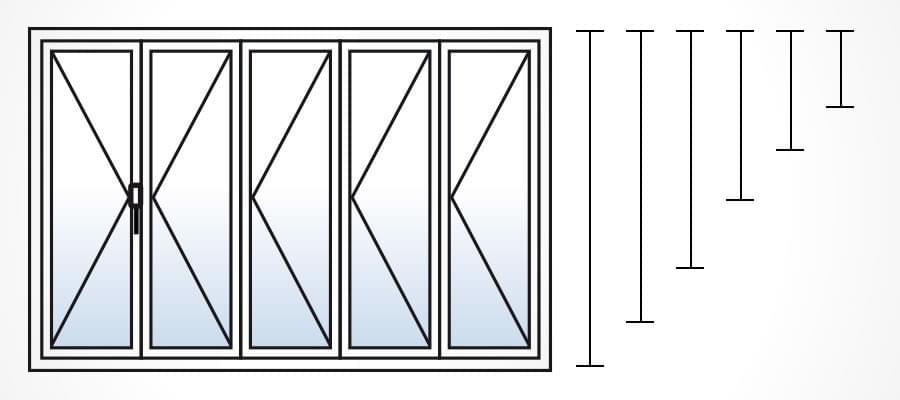 Baie vitr e sur mesure pas cher for Dimensions baies vitrees