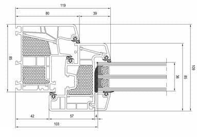 D tails de la fen tre pvc energeto 8000 for Cote fenetre standard