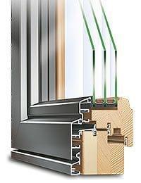 Fenêtres mixte en bois-alu
