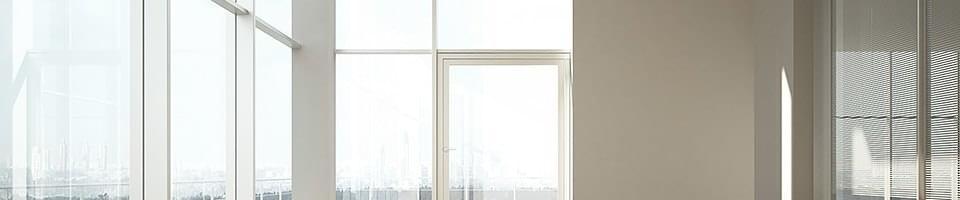 Fenêtres et baie avec paumelles cachées
