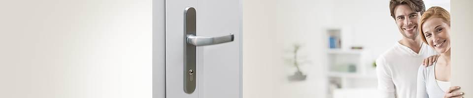 Gâchette intérieure des portes d'entrée PVC