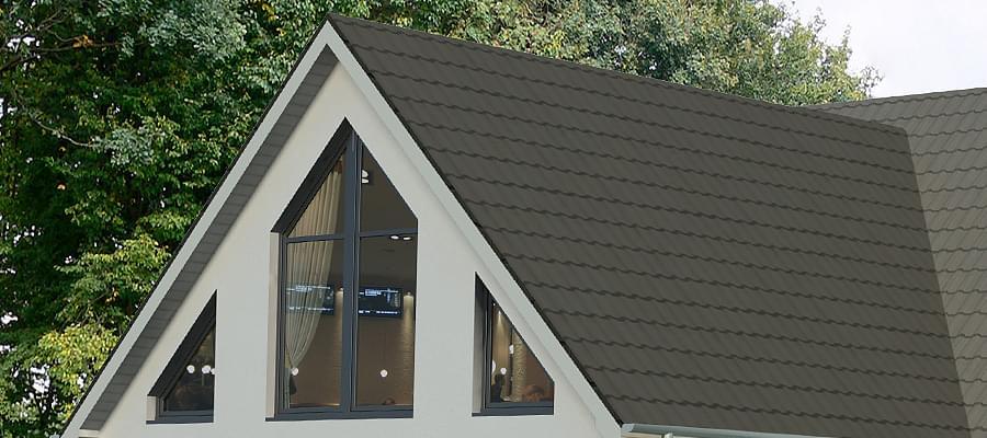 Volet pour fenetre triangle for Maison en triangle