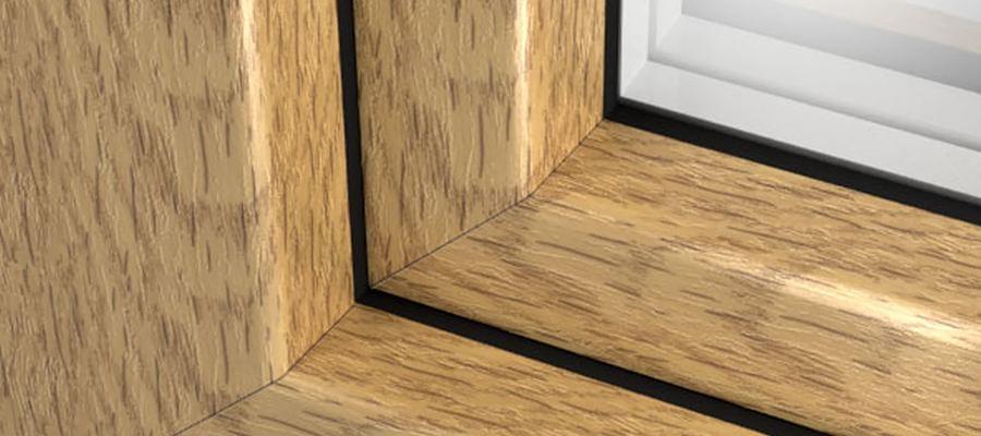 Plaxage soudage de film d cor sur profil s de fen tre pvc for Decoration fenetre bois