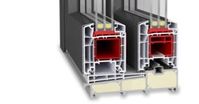 Baie soulevant-coulissante en PVC-Aluminium - Twinset Premium