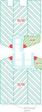 Vitrage fixe d'une fenêtre bois IV68