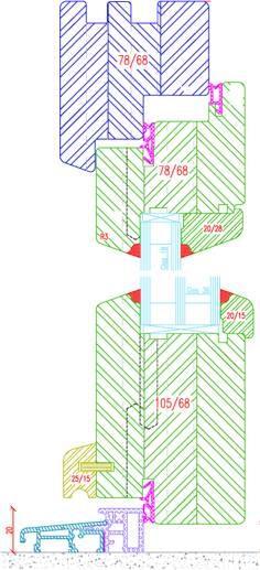 Fenêtre bois IV68 - Classic Line Porte-fenêtre