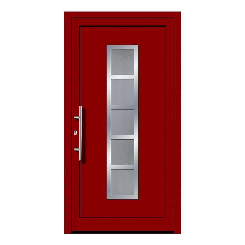 Porte d 39 entr e rouge en ligne pas ch re for Porte de service anthracite