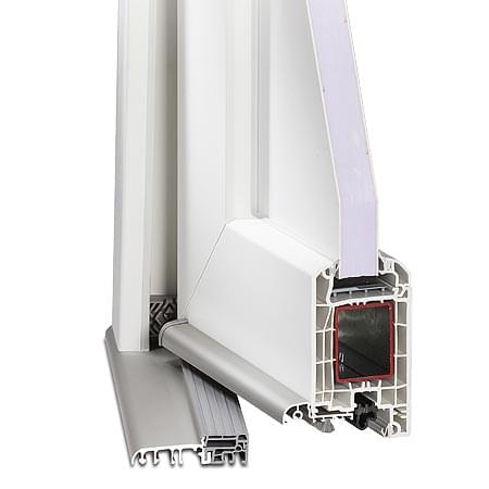 Profils pour portes d 39 entr e pvc for Joint etancheite porte entree