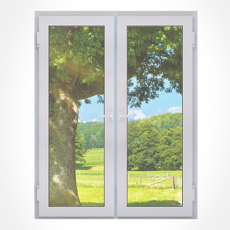 Porte fen tre 2 vantaux pvc bois alu mesures d cors for Porte 2 vantaux bois