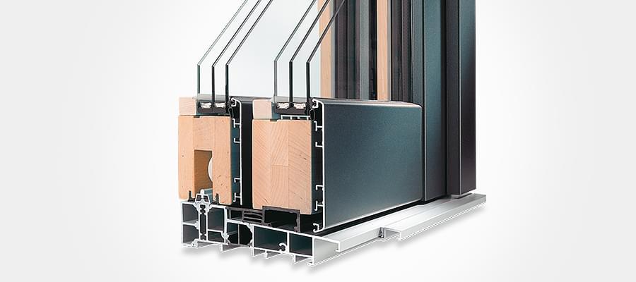 Porte fen tre coulissante en bois sur mesure en ligne for Porte fenetre coulissante alu
