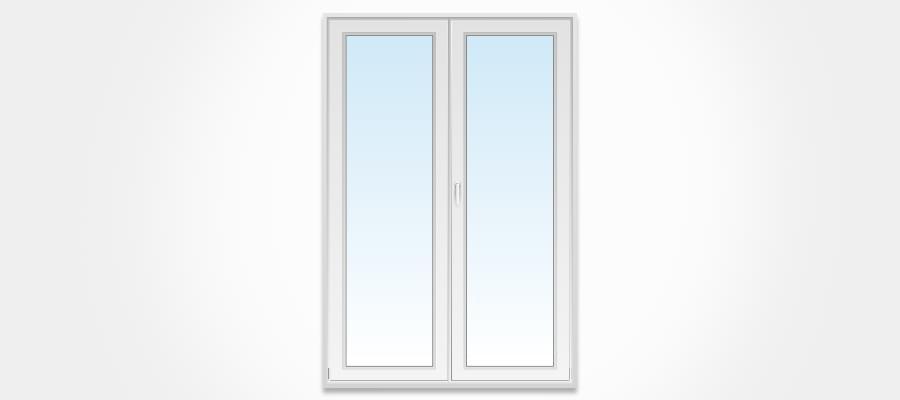 Porte fen tre pvc 2 vantaux ouvertures et mesures couleurs for Fenetre de commande
