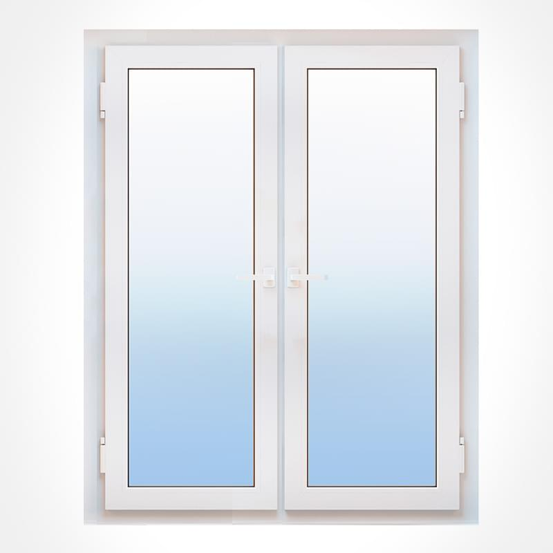 Porte fen tre pvc 2 vantaux ouvertures et mesures couleurs for Porte fenetre arrondie