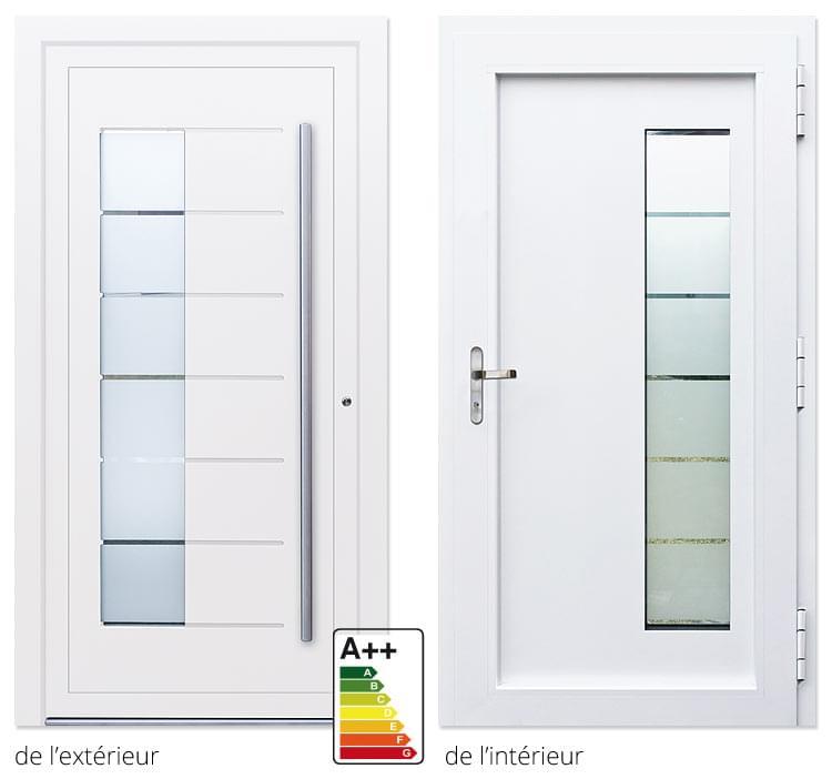 Acheter en ligne des portes bon march avec un design alu for Acheter porte d entree
