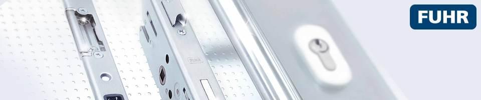 Verrouillage des portes d'entrée alu