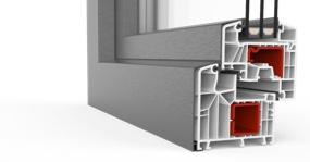 Baie oscillo-coulissante à Translation en PVC-Aluminium Twinset 8000