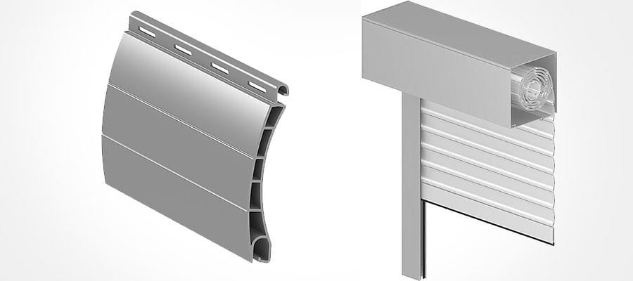volet roulant aluminium moderne sur mesure fenetre24. Black Bedroom Furniture Sets. Home Design Ideas